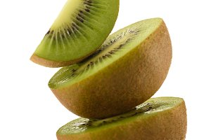 close up view of fresh and ripe kiwi