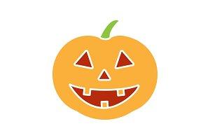 Halloween pumpkin glyph color icon