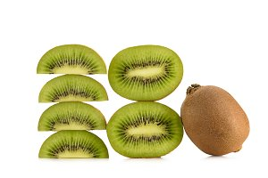 close up view of arranged fresh kiwi