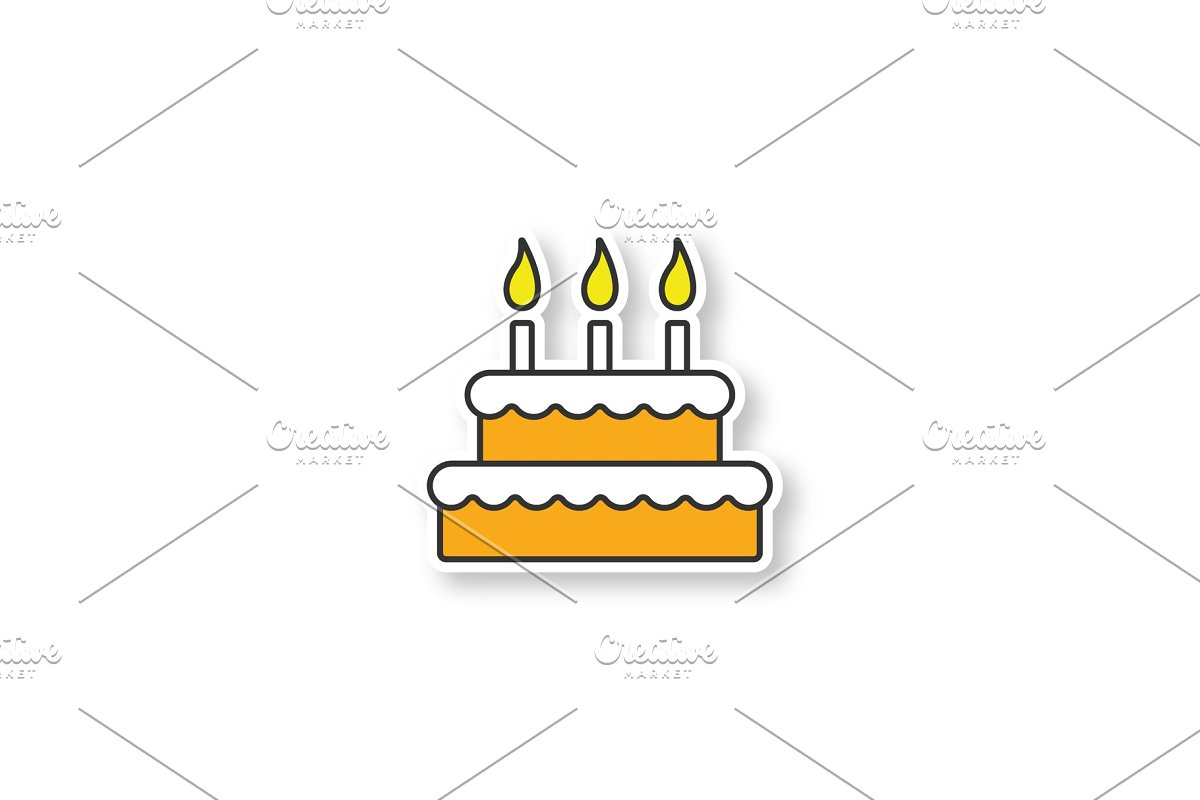 Birthday cake patch