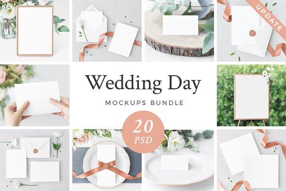 Wedding Day 20 Mockups Bundle