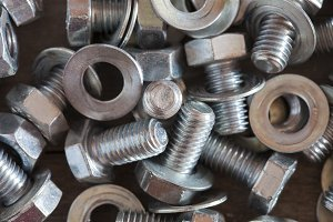 Nuts, screws and washers