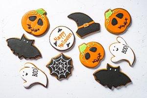 Halloween food bakground