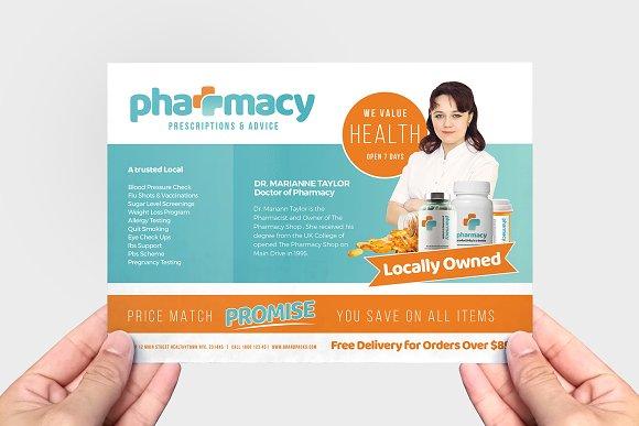 Pharmacy Flyer Template Flyer Templates Creative Market