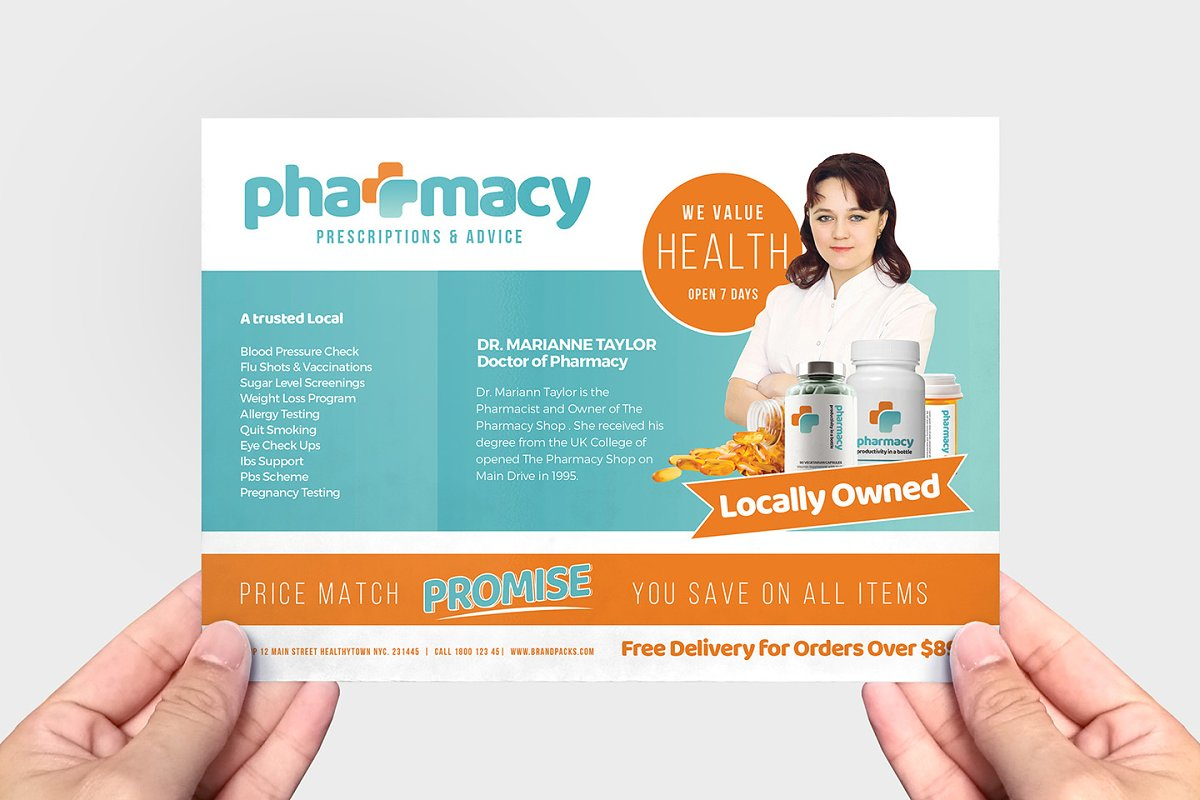 Pharmacy Flyer Template ~ Flyer Templates ~ Creative Market