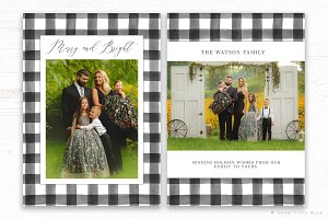 Buffalo Plaid Christmas Card