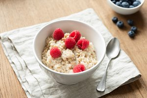 Oatmeal porridge with berry fruits