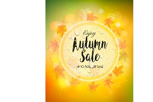 Enjoy Autumn Sale background. Vector