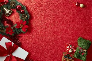 christmas red paper background