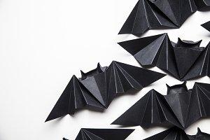 Halloween origami paper bats