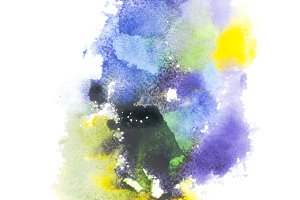 Abstract paintingon white