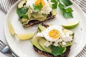 Wholegrain toast with avocado