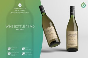 Wine Bottle MD Mock-Up #1 [V2.0]