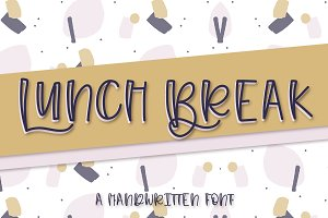 Lunch Break - A Hand Lettered Font