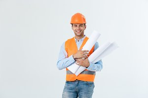 Male construction engineer with
