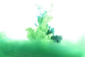 bright green paint splashes
