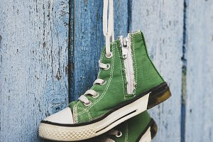 green classic sneakers