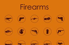 Firearms simple icons