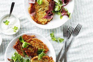 healthy breakfast courgettes fritter
