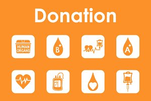 Donation simple icons
