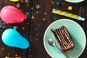 Chocolate cake decoration party