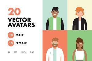 20 Vector Avatars