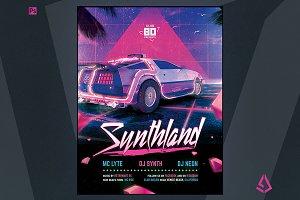 Synthwave Flyer v2 Retrowave Poster