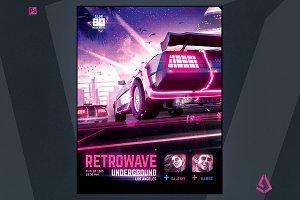 Synthwave Flyer v4 New Retrowave