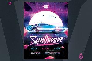 Synthwave Flyer v5 Flashback Retro