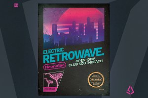 Retrowave Flyer v1 Retrogaming Cover