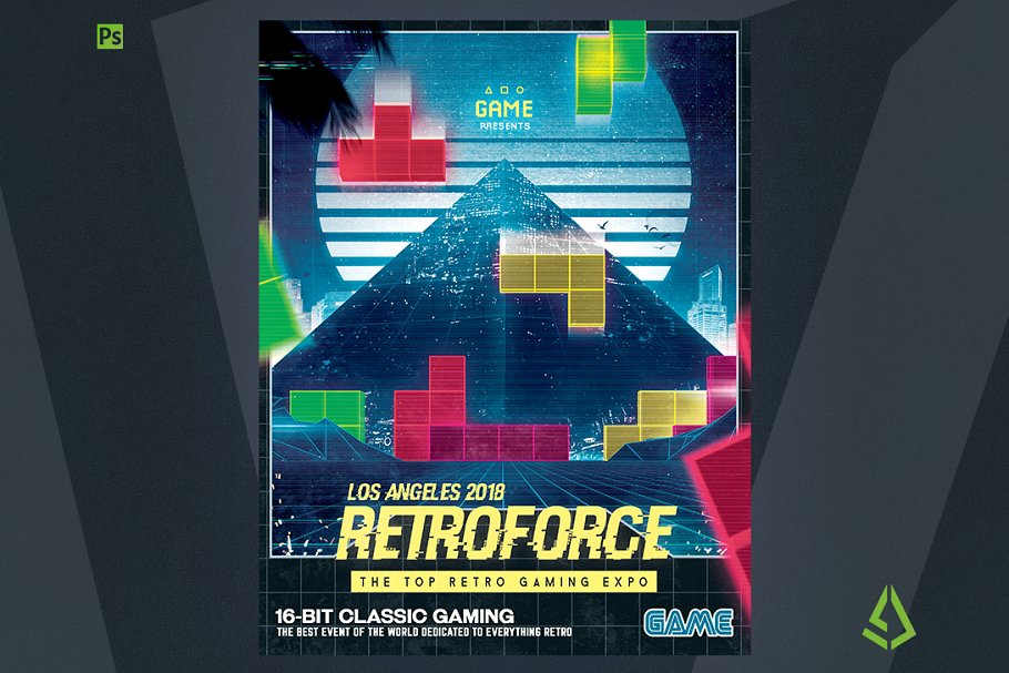 Retro Gaming Flyer v1 Classic Poster