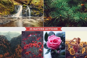 25 Nature Photoshop Actions