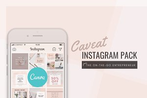 Caveat Instagram Design Pack