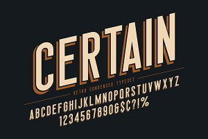 Trendy vintage display font design