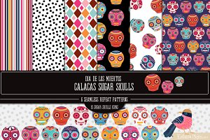 Sugar Skulls Icons and Papers