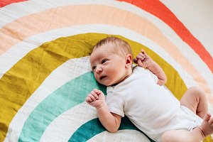 Newborn Baby Rainbow Photo