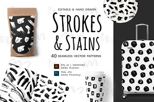 Brush Dots & Strokes Patterns