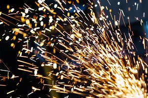 Magic glowing Flow of Sparks