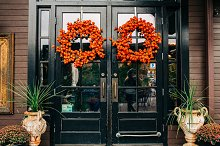 Festive Fall Doors Vintage by  in Architecture