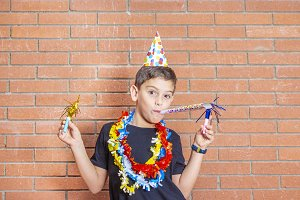 Child celebrating a party