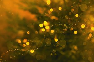 Blurred christmas or new year yellow