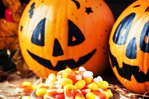 Halloween festive composition with s