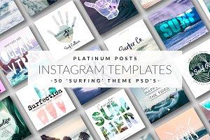 Platinum Posts Surf -Instagram Temps