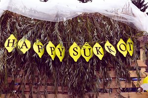 "inscription ""Happy sukkot"""