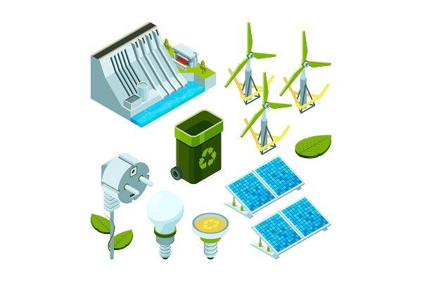 Green energy. Saving factory power