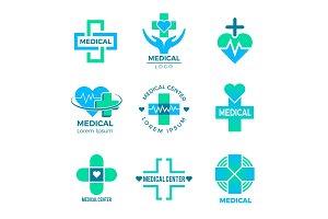 Health symbols. Medical signs for