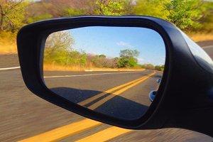 Yellow Lane Mirror
