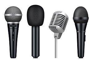 Microphones 3d. Music studio misc