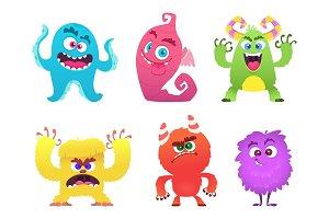Cartoon monsters. Goblin gremlin