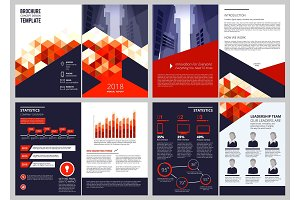 Business brochure template. Annual